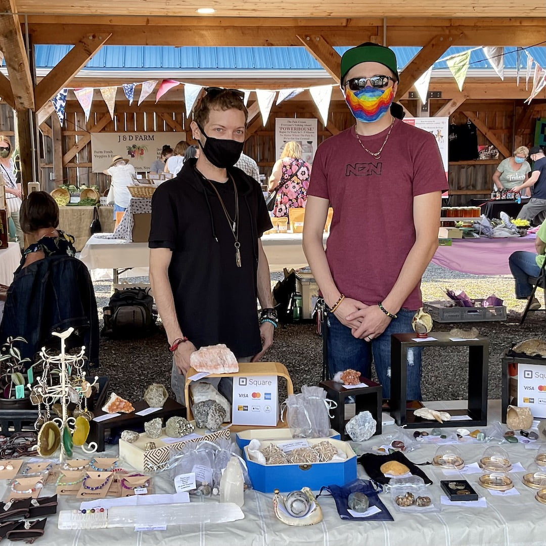 The Fossil and Mineral Men at Pugwash Farmers' Market